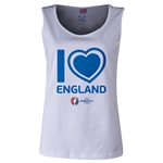 England Euro 2016 Long Sleeve Youth Heart T-Shirt (White)