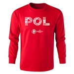 Poland Euro 2016 Long Sleeve Youth Elements T-Shirt (Red)