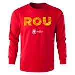 Romania Euro 2016 Long Sleeve Youth Elements T-Shirt (Red)