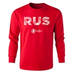 Russia Euro 2016 Long Sleeve Youth Elements T-Shirt (Red)