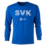 Slovakia Euro 2016 Long Sleeve Youth Elements T-Shirt (Royal)