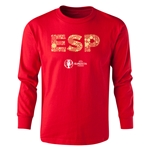 Spain Euro 2016 Long Sleeve Youth Elements T-Shirt (Red)