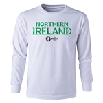 Northern Ireland Euro 2016 Long Sleeve Youth Core T-Shirt (White)