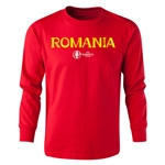 Romania Euro 2016 Long Sleeve Youth Core T-Shirt (Red)