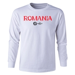 Romania Euro 2016 Long Sleeve Youth Core T-Shirt (White)