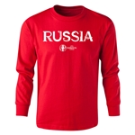 Russia Euro 2016 Long Sleeve Youth Core T-Shirt (Red)