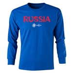 Russia Euro 2016 Long Sleeve Youth Core T-Shirt (Royal)