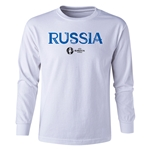 Russia Euro 2016 Long Sleeve Youth Core T-Shirt (White)