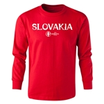 Slovakia Euro 2016 Long Sleeve Youth Core T-Shirt (Red)