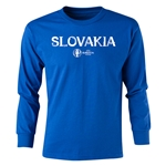 Slovakia Euro 2016 Long Sleeve Youth Core T-Shirt (Royal)
