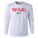 Spain Euro 2016 Long Sleeve Youth Core T-Shirt (White)