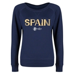Spain Euro 2016 Long Sleeve Youth Core T-Shirt (Navy)
