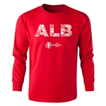 Albania Euro 2016 Long Sleeve Youth Elements T-Shirt (Red)