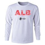 Albania Euro 2016 Long Sleeve Youth Elements T-Shirt (White)