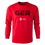 Germany Euro 2016 Long Sleeve Youth Elements T-Shirt (Red)