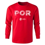 Portugal Euro 2016 Long Sleeve Youth Elements T-Shirt (Red)