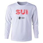 Switzerland Euro 2016 Long Sleeve Youth Elements T-Shirt (White)