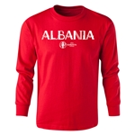Albania Euro 2016 Long Sleeve Youth Core T-Shirt (Red)