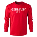 Germany Euro 2016 Long Sleeve Youth Core T-Shirt (Red)