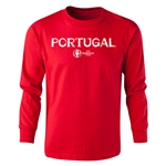 Portugal Euro 2016 Long Sleeve Youth Core T-Shirt (Red)