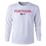 Portugal Euro 2016 Long Sleeve Youth Core T-Shirt (White)