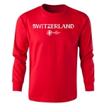 Switzerland Euro 2016 Long Sleeve Youth Core T-Shirt (Red)