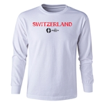 Switzerland Euro 2016 Long Sleeve Youth Core T-Shirt (White)