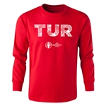 Turkey Euro 2016 Long Sleeve Youth Elements T-Shirt (Red)