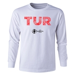 Turkey Euro 2016 Long Sleeve Youth Elements T-Shirt (White)