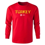 Turkey Euro 2016 Long Sleeve Youth Core T-Shirt (Red)