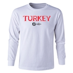 Turkey Euro 2016 Long Sleeve Youth Core T-Shirt (White)