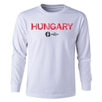 Hungary Euro 2016 Long Sleeve Youth Core T-Shirt (White)