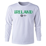 Ireland Euro 2016 Long Sleeve Youth Core T-Shirt (White)