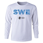 Sweden Euro 2016 Long Sleeve Youth Elements T-Shirt (White)