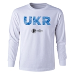 Ukraine Euro 2016 Long Sleeve Youth Elements T-Shirt (White)