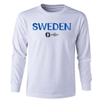 Sweden Euro 2016 Long Sleeve Youth Core T-Shirt (White)