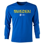 Sweden Euro 2016 Long Sleeve Youth Core T-Shirt (Royal)