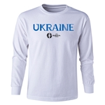 Ukraine Euro 2016 Long Sleeve Youth Core T-Shirt (White)