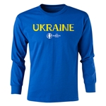 Ukraine Euro 2016 Long Sleeve Youth Core T-Shirt (Royal)