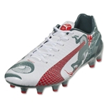 Puma evoSpeed 1.3 Graphic FG (White/Sea Pine)