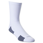 adidas Team Speed Sock System MediumCushion Mid Sock (White/Gray)
