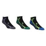 Under Armour Phantom III No Show Sock-3 Pack (Blk/Yellow)