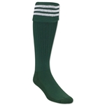 3 Stripe Padded Socks (Dark Green/White)