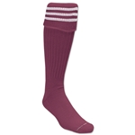 3 Stripe Padded Socks (Maroon/White)