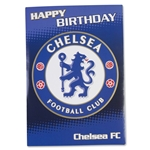 Chelsea Crest Happy Birthday Card