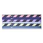 Nike Stripe Print Headband Assorted 6-Pack (Purple)
