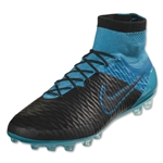 Nike Magista Obra Leather AG-R (Black/Turquoise Blue)
