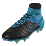 Nike Magista Obra Leather SG-Pro (Black/Turquoise Blue)