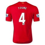 Liverpool 15/16 TOURE Home Soccer Jersey