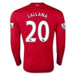 Liverpool 15/16 LALLANA LS Home Soccer Jersey